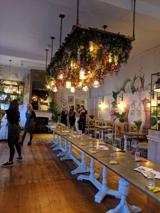 The Florist Liverpool dining room